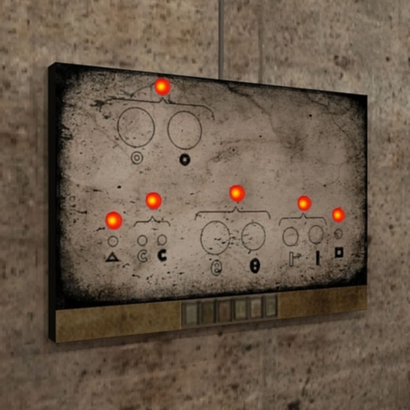 A picture of the astrology-machine control panel